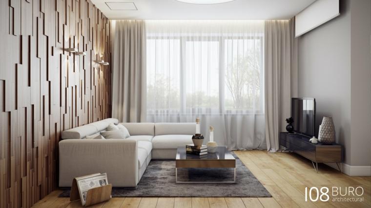 Stile moderno di buro 108 idee per la casa di legno for Arredamento shabby chic moderno