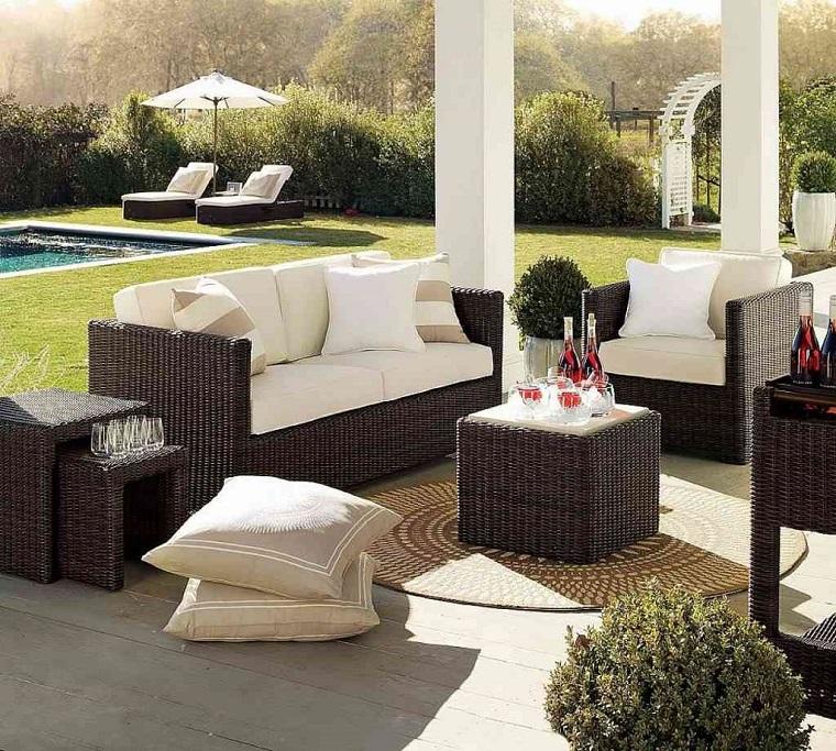 arredamento terrazzo design contemporaneo bianco marrone