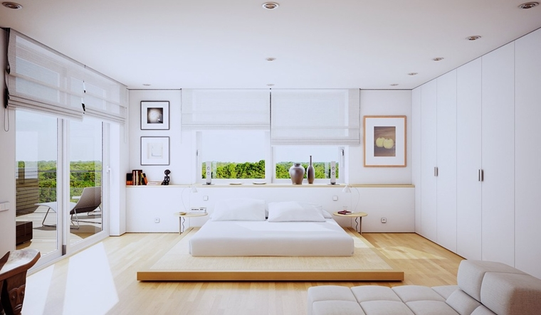 arredameto camera da letto moderna bianco