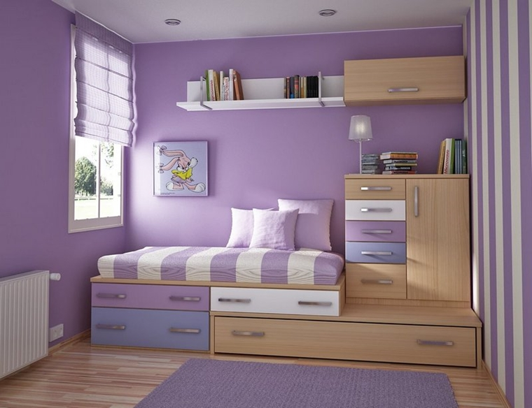 Arredare camera da letto piccola - idee salvaspazio