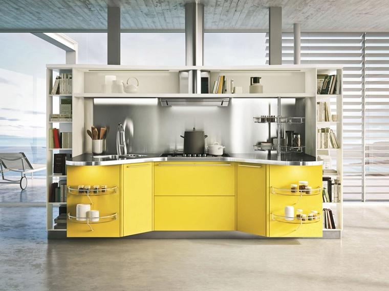 arredare casa cucina moderna colore giallo