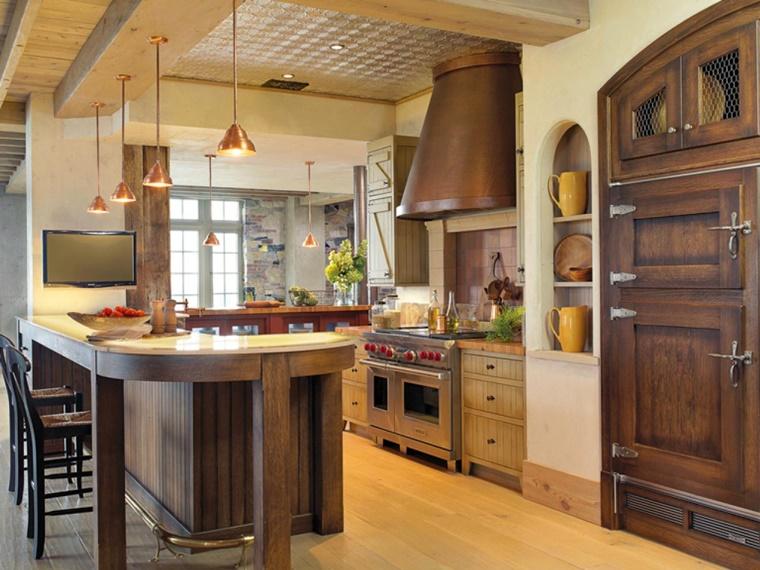 arredare casa cucina stile rustico