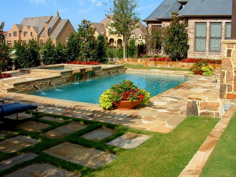 arredare casa design giardino piscina