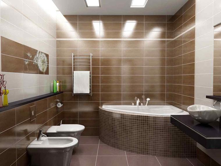 Bagno Marrone Moderno : Arredo bagno moderno tante idee per uno stile minimal archzine