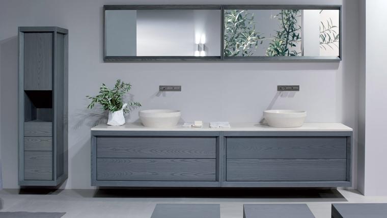 Arredo bagno idee eleganti e moderne da copiare for Bagno moderno grigio