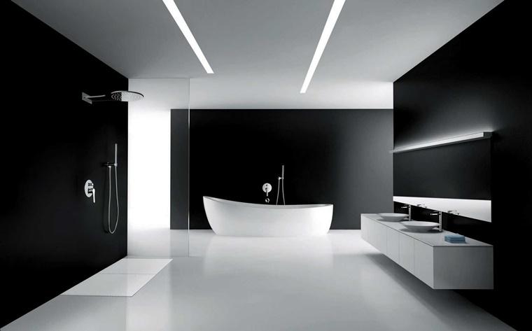Bagno Moderno Bianco E Nero.Bagno Moderno Nero