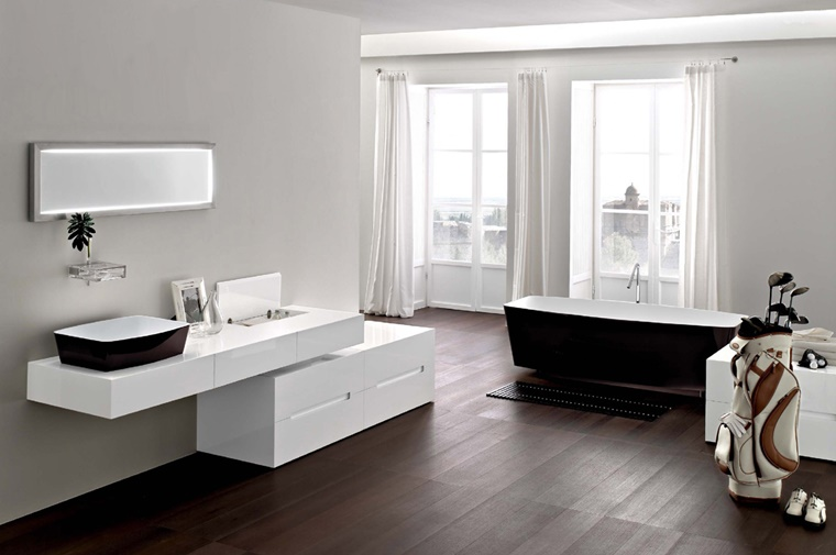 Arredo bagno moderno tante idee per uno stile minimal for Mobile bagno minimal