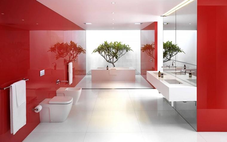 Pavimento Rosso E Bianco : Arredo bagno idee eleganti e moderne da copiare
