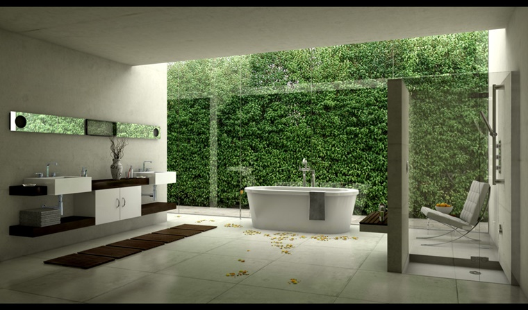 arredo bagno moderno stile minimal arredo zen giapponese