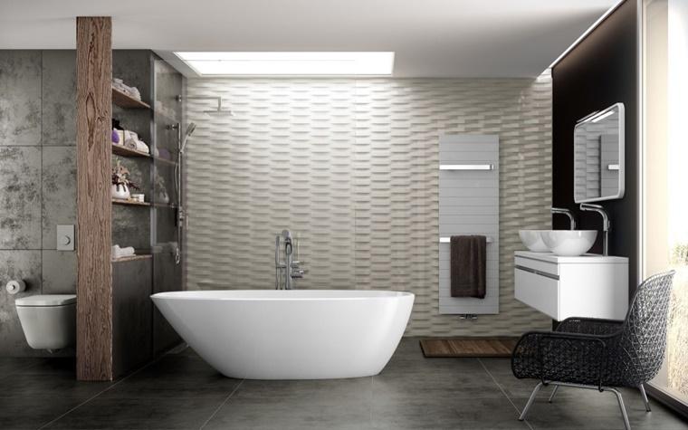 arredo bagno moderno vasca bagno forma irregolare