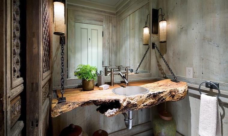 arredo casa stile rustico bagno
