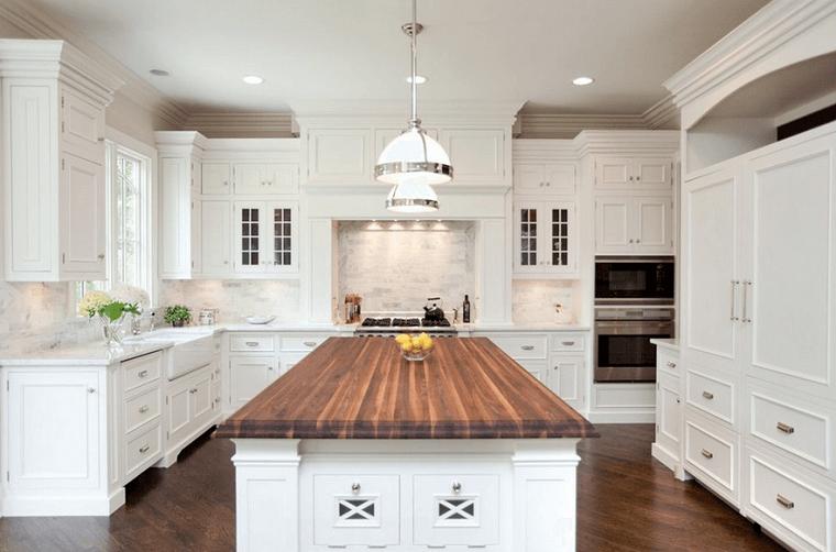 Come arredare una cucina con mobili bianchi e legno for Arredo cucina design