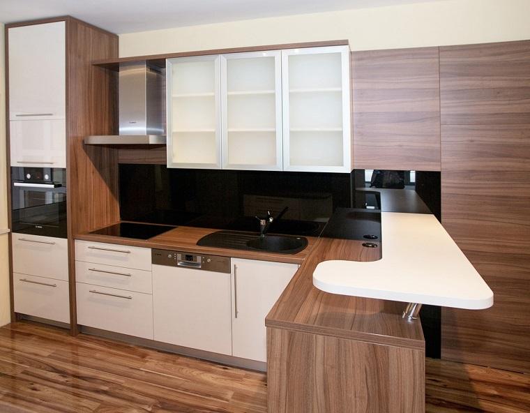 arredo cucina mobili bianchi legno tavolo