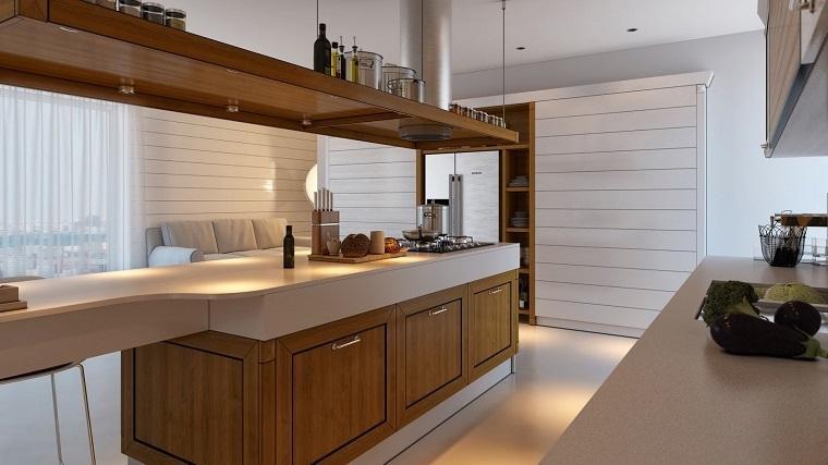 arredo cucina mobili bianchi legno