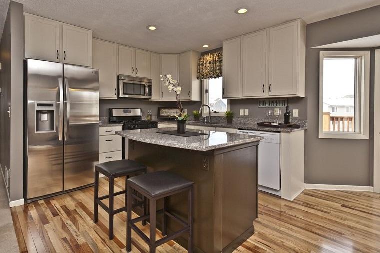 Come arredare una cucina con mobili bianchi e legno - Profondita mobili cucina ...