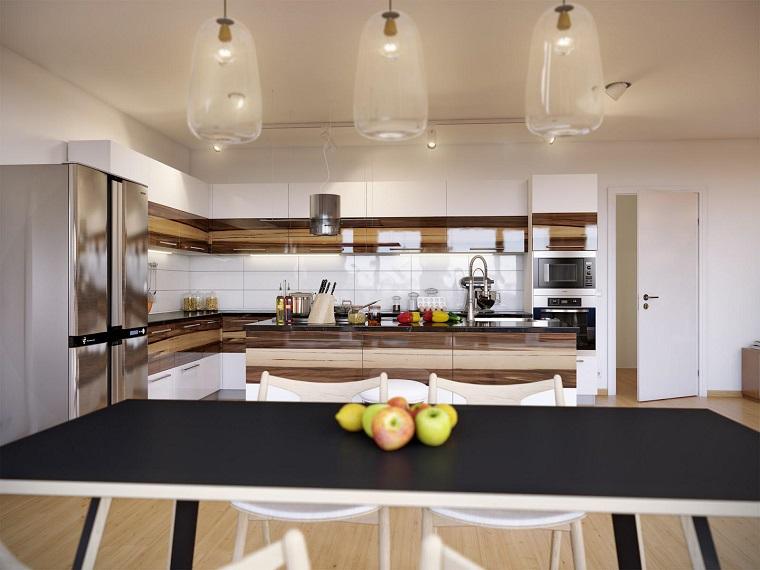 arredo cucina moderno bianco legno