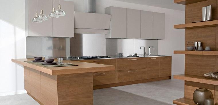 Come arredare una cucina con mobili bianchi e legno - Come pulire i mobili in legno della cucina ...