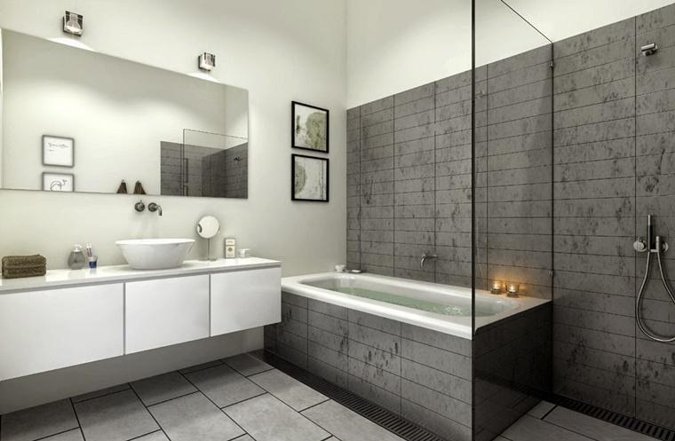 arredo minimal bagno vasca doccia