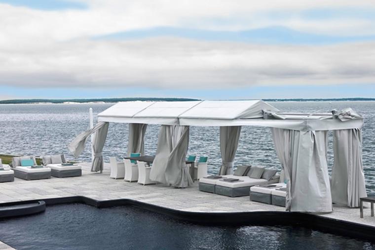 arredo terrazzo moderno bianco mare