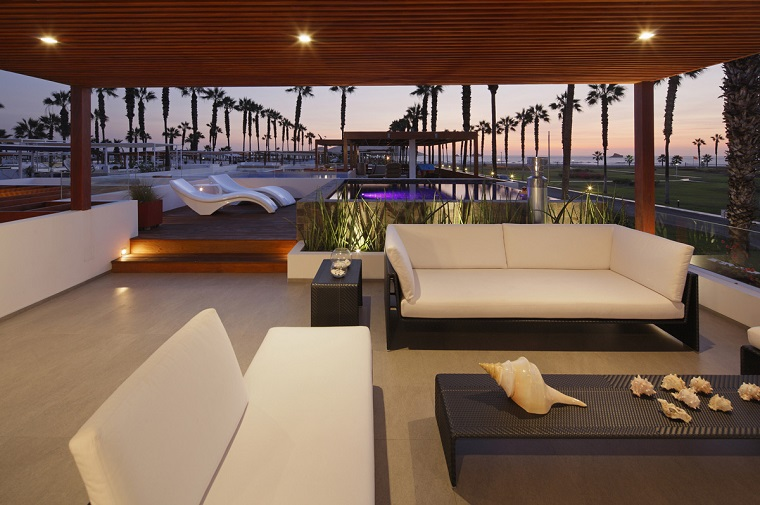 arredo terrazzo moderno complementi stile raffinato