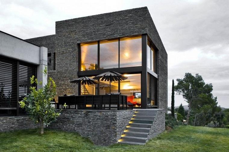 arredo terrazzo stile mediterraneo finiture nere