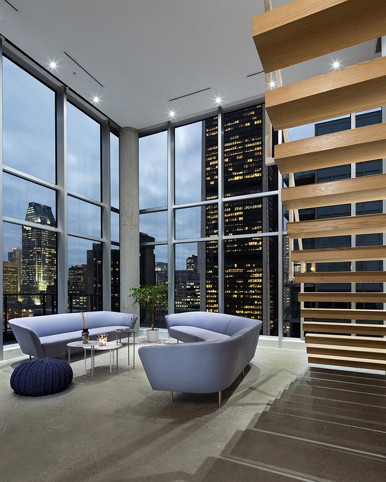 attico moderno stile minimal scale moderne