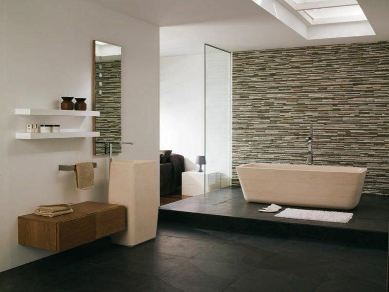 bagni moderni contemporanei pietra rivestimenti