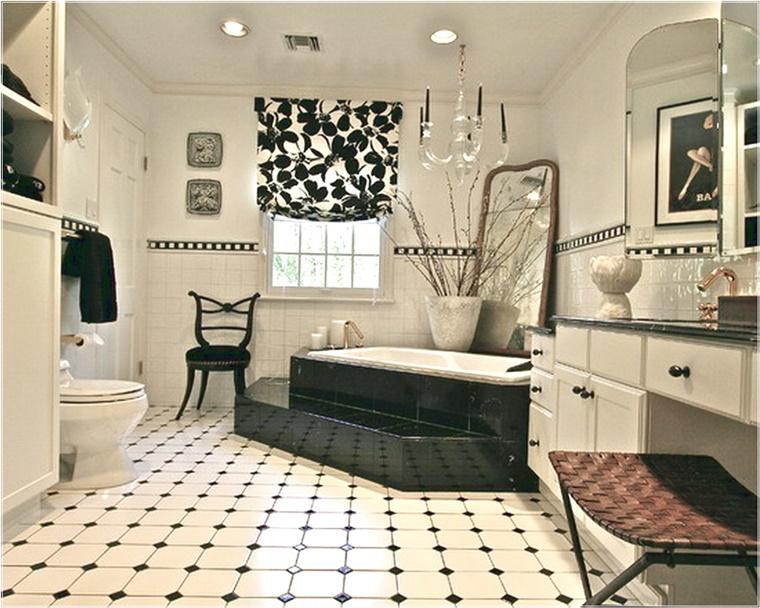 Bagno bianco e nero design e tendenze per uno spazio for Pavimento bianco e nero