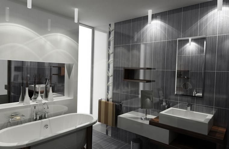 Arredo bagno idee eleganti e moderne da copiare - Illuminazione bagno moderno ...