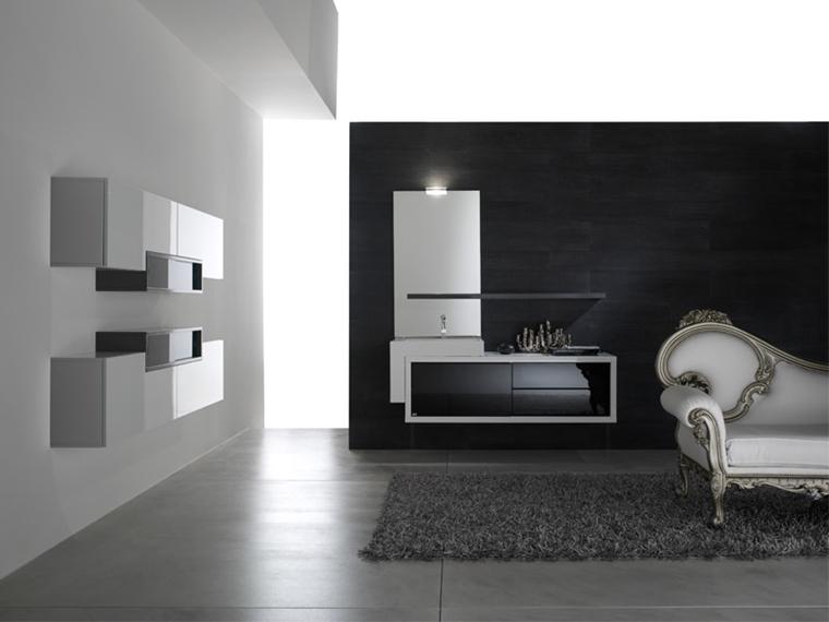 bagno moderno pensili pareti divano lusso