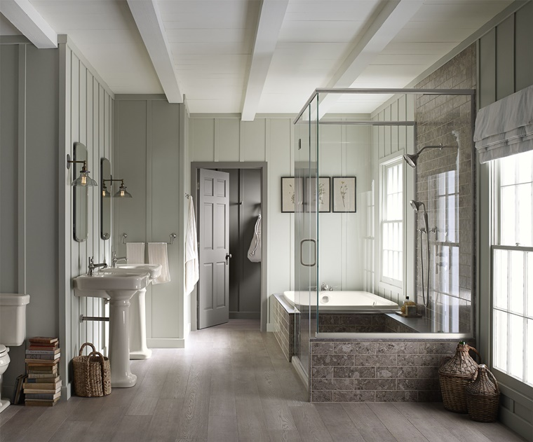 bagno rustico doccia vasca bagno