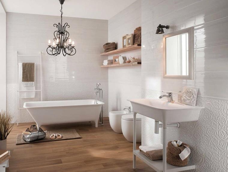bagno rustico vasca bagno sanitari bianco