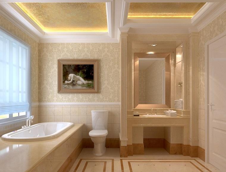 bagno stile minimalista vasca incasso totale