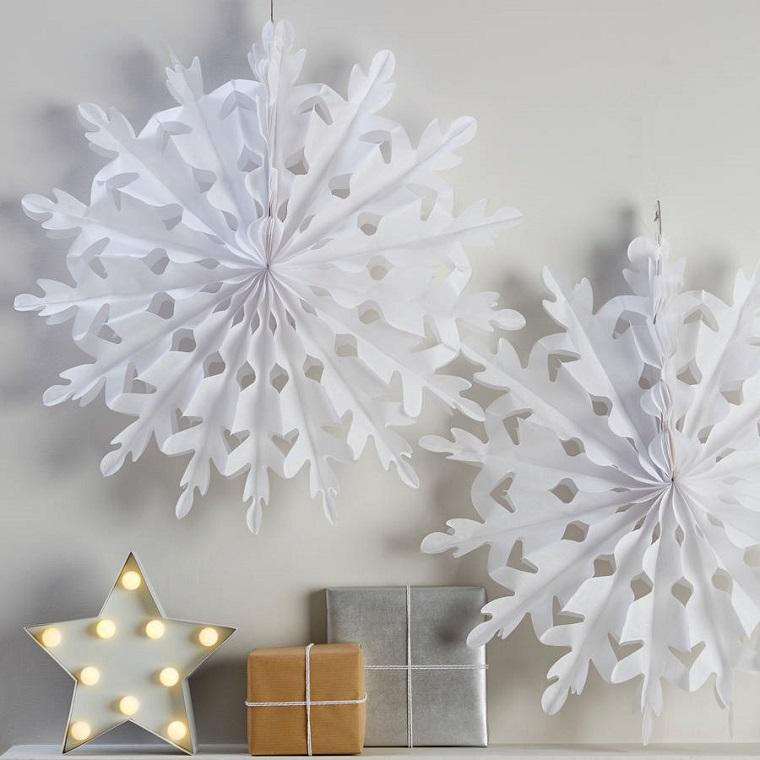 bianco Natale originali stelle carta bianca