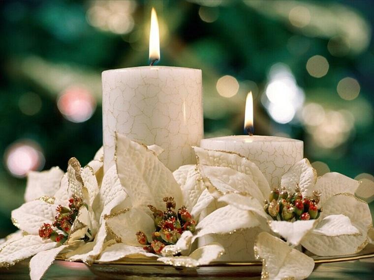 bianco Natale candele profumate bianche
