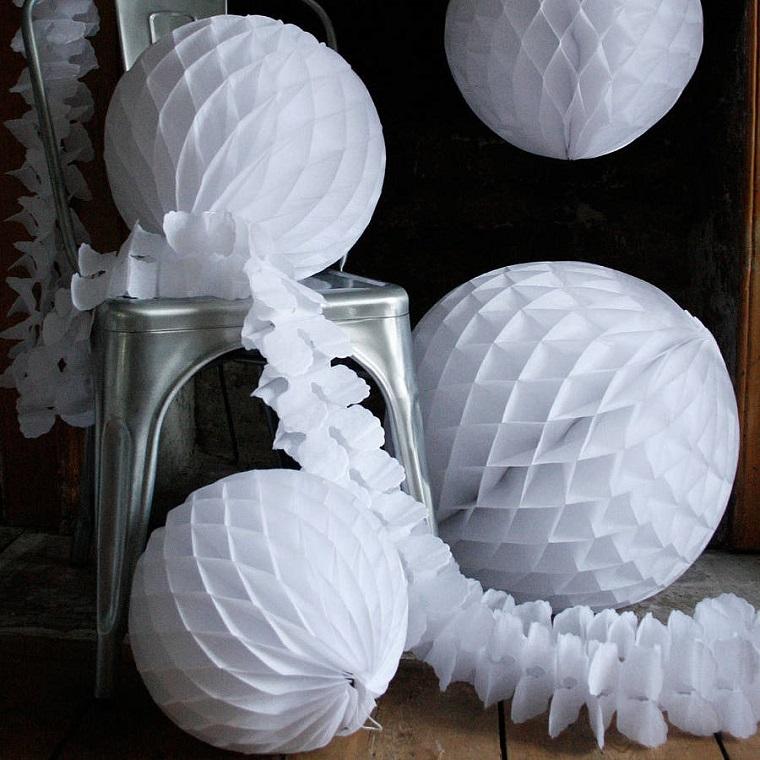 bianco Natale addobbi albero palle bianche