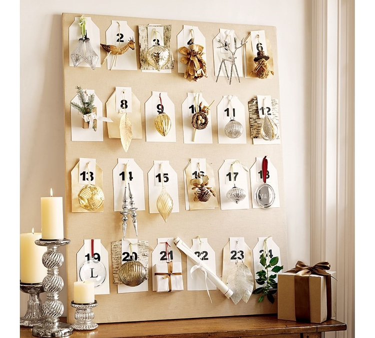 calendario avvento addobbato decorazioni natalizie