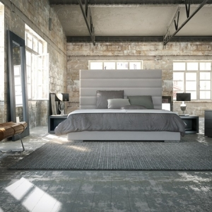 Camera da letto grigia - 42 idee favolose