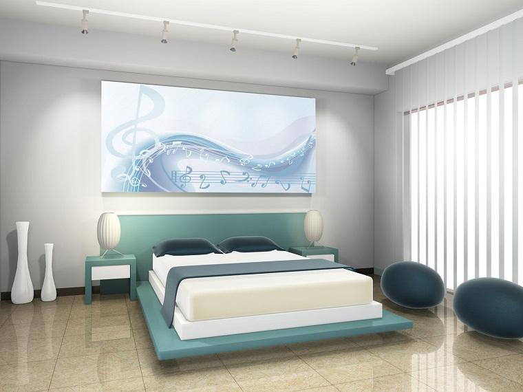 camera da letto moderna design futuristico