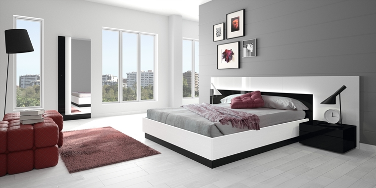 camera letto arredata modo moderno