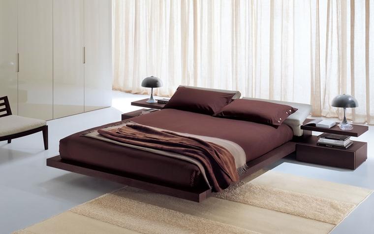 camera letto moderna biancheria letto-lillà
