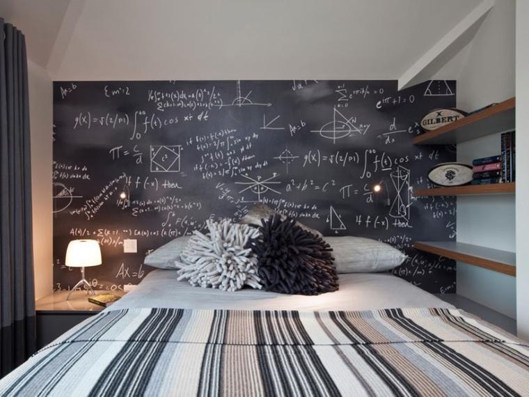 Camerette ragazzi un tocco di design interiore moderno - Parete lavagna arredamento ...