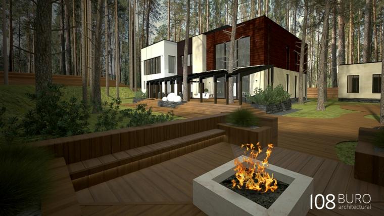 camino fuoco barbecue legno foresta alberi