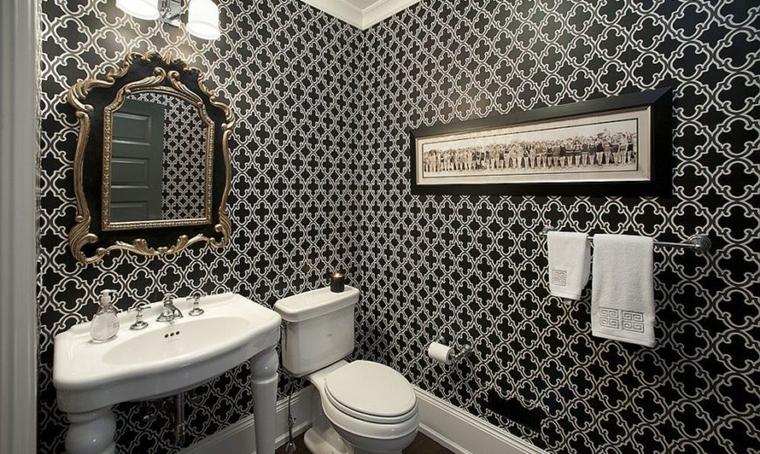 carta parati lussuosa bagno moderno