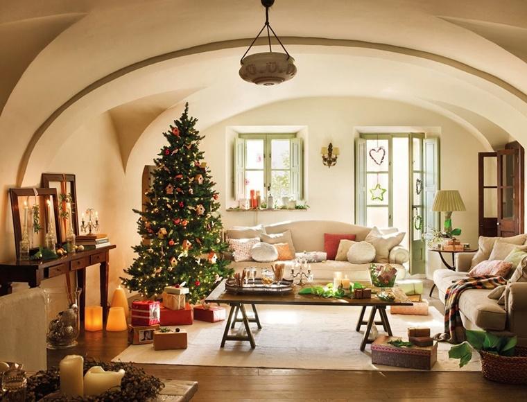 casa allestita stile moderno addobbi natalizi