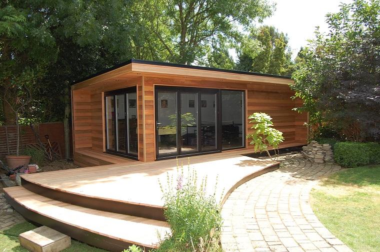 Ufficio In Legno Da Giardino : Casa studio suggerimenti per la zona esterna e il giardino