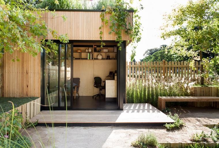 casa arredo ufficio esterno pareti legno