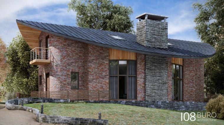 Stile moderno di buro 108 idee per la casa di legno for Case in pietra e legno