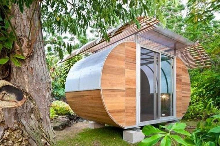 casa studio esterno forma ovale