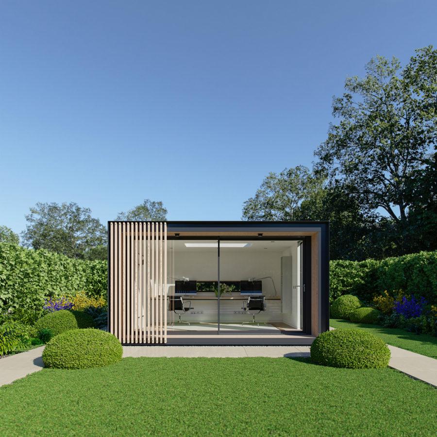casa studio esterno forma rettangolare